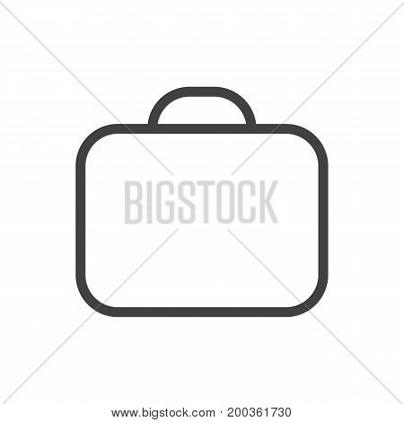 Vector Briefcase Element In Trendy Style.  Isolated Case Outline Symbol On Clean Background.