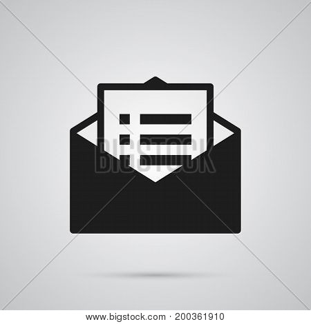 Isolated Email Promotion Icon Symbol On Clean Background