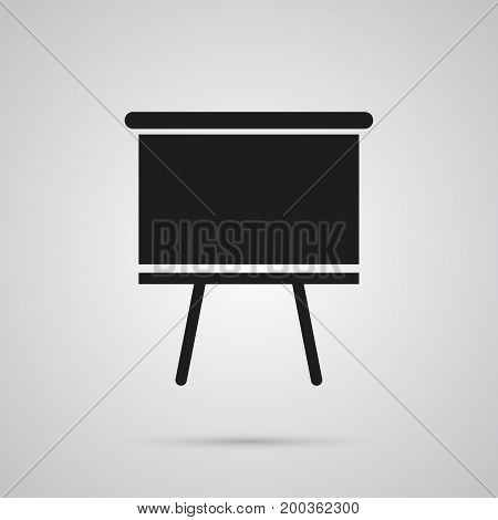 Isolated Board Stand Icon Symbol On Clean Background