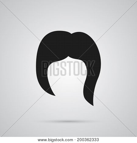 Vector Hairstyle Element In Trendy Style.  Isolated Haircut Icon Symbol On Clean Background.