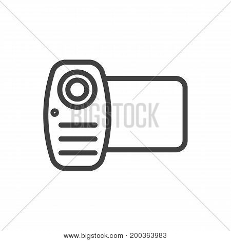 Vector Video Element In Trendy Style.  Isolated Camera Outline Symbol On Clean Background.
