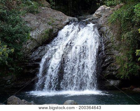 waterfall rocks island life flowing water landscape