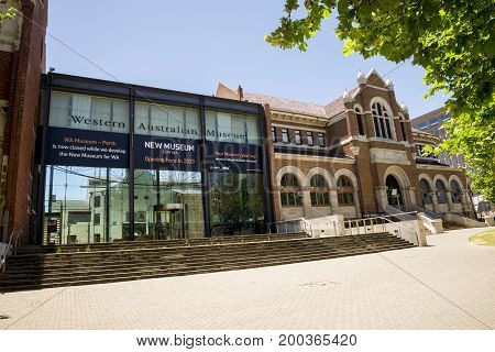 WESTERN AUSTRALIA, PERTH - NOVEMBER 2016: Western Australian Museum Building closed for redevelopment until 2020