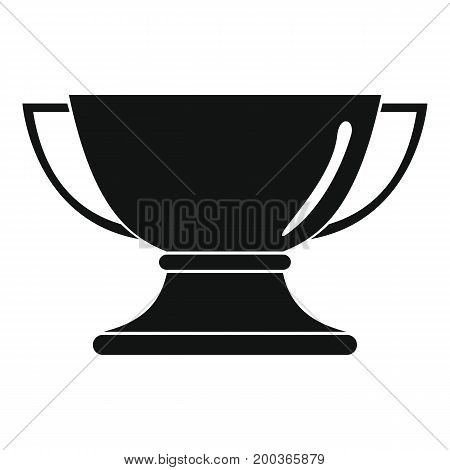 Gold award cup in black simple silhouette style icons vector illustration for design and web isolated on white background. Gold award vector object for labels and logo
