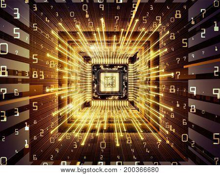 Unfolding Of Computer Cpu