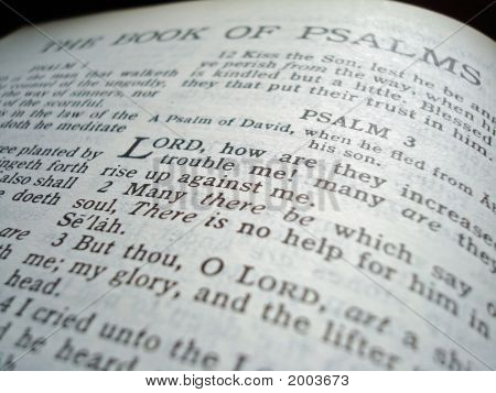 Bible Book Of Psalms Title Page