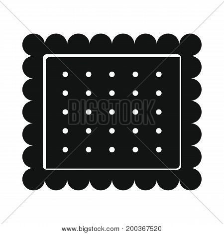Cookie bakery product in black simple silhouette style icons vector illustration for design and web isolated on white background. Cookie bakery product vector object for labels and logo