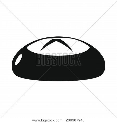 Bread bakery product in black simple silhouette style icons vector illustration for design and web isolated on white background. Bread bakery product vector object for labels and logo