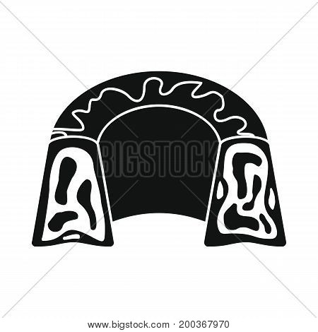 Pudding bakery product in black simple silhouette style icons vector illustration for design and web isolated on white background. Pudding bakery product vector object for labels and logo