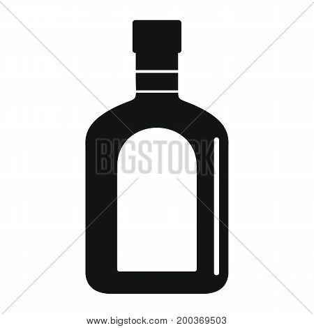 Bottle alcohol absinthe in black simple silhouette style icons vector illustration for design and web isolated on white background. Bottle alcohol absinthe vector object for labels