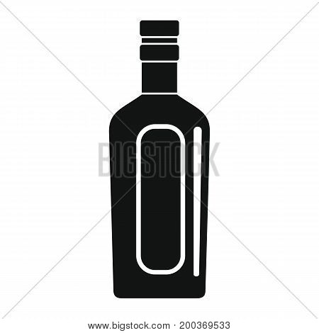 Bottle alcohol vermouth in black simple silhouette style icons vector illustration for design and web isolated on white background. Bottle alcohol cognac vermouth object for labels
