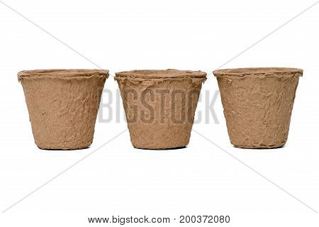 Three Paper Recycle Pots