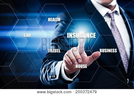 Insurance Life House Car Health Travel Business Health concept.