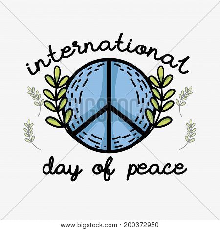 hippie symbol to peace and love vector illustration