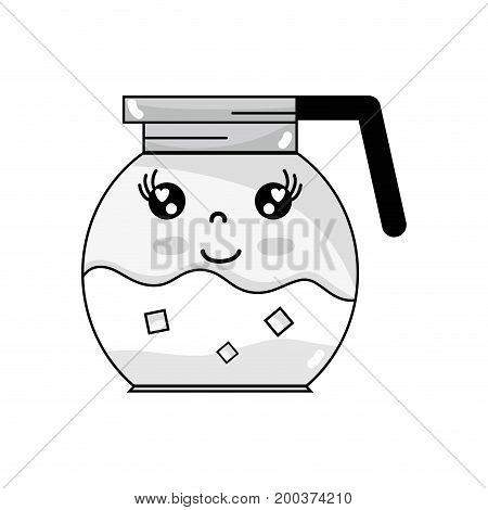 line kawaii cute happy refreshness in the jar vector illustration