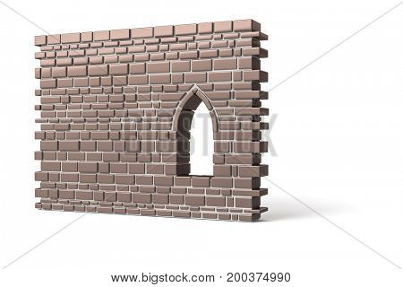 3d illustration of a part of a wall
