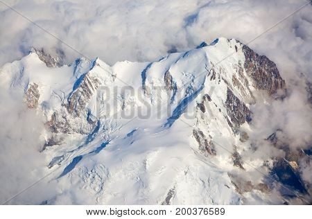 Aerial view on the french alps