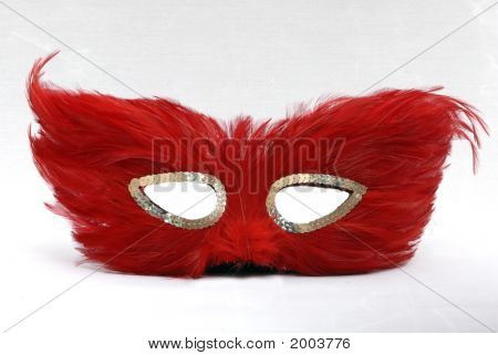Red Feather Mask