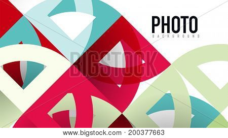 Business presentation geometric template. Digital technology layout, brochure or flyer concept or geometrical web banner background