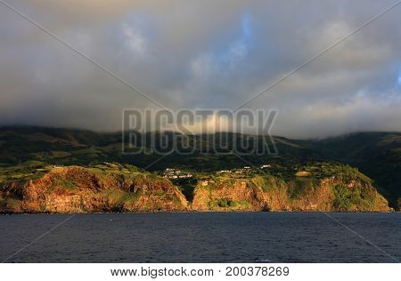 Landscape of Flores Island, Azores, Portugal, Europe