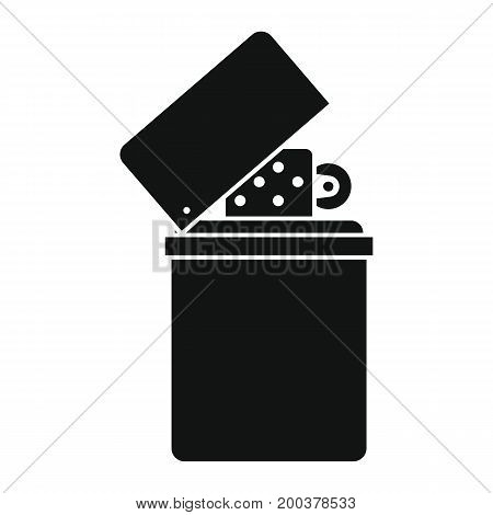 Lighter in black simple silhouette style icons vector illustration for design and web isolated on white background. Lighter vector object for labels advertising