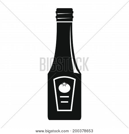 Ketchup in black simple silhouette style icons vector illustration for design and web isolated on white background. Ketchup vector object for labels advertising
