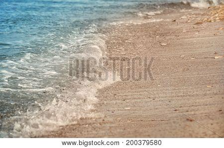 Beautiful sea beach at resort