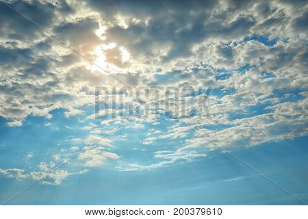 Beautiful view of clouds in the sky