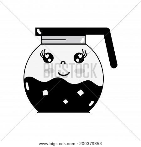 contour kawaii cute happy refreshness in the jar vector illustration