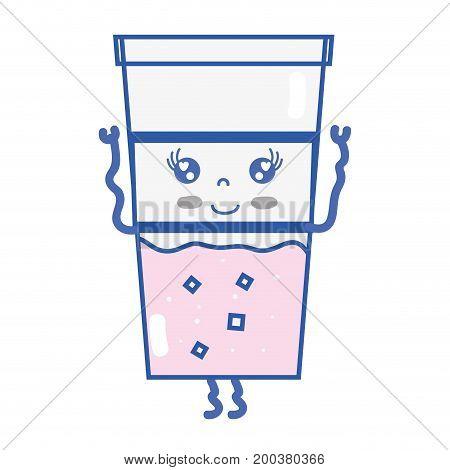 kawaii cute happy drink beverage vector illustration