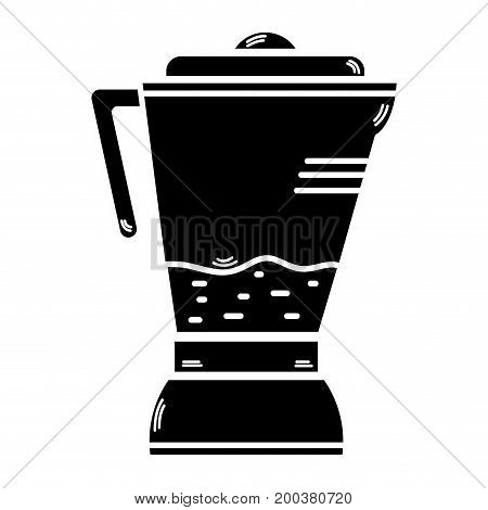 contour technology blender electric kitchen utensil vector illustration