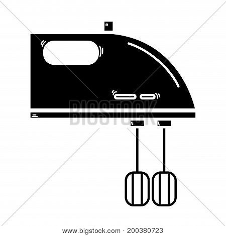 contour technology mixer electric kitchen utensil vector illustration