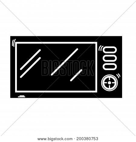 contour technology microwaves electric kitchen utensil vector illustration
