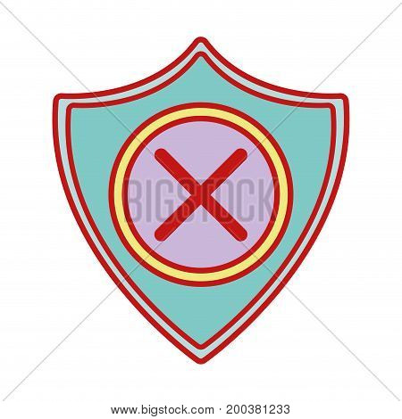security shield to technology protection icon vector illustration