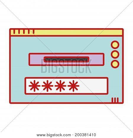window web technology element design vector illustration