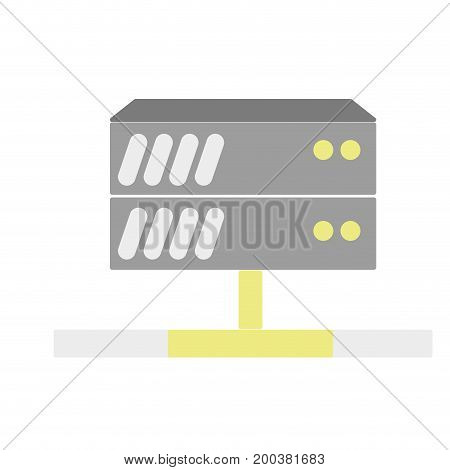 database technology to conection server information vector illustration