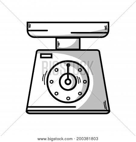 line scale weight machine kitchen utensil vector illustration