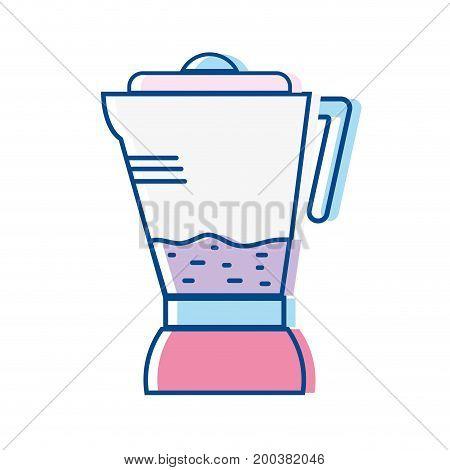technology blender electric kitchen utensil vector illustration