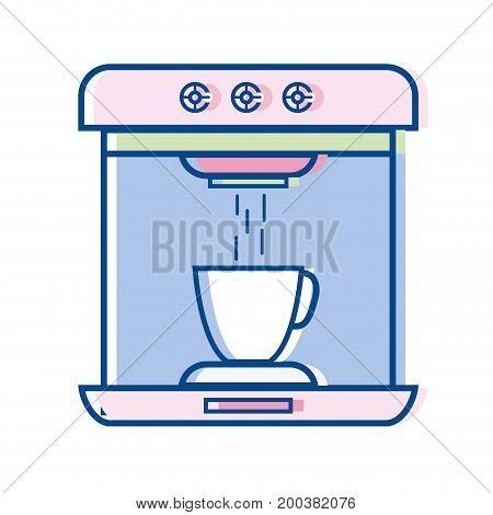 technology coffee maker electric kitchen utensil vector illustration