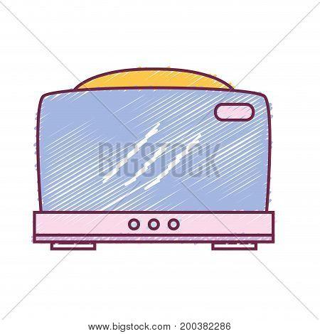 technology toaster electric kitchen utensil vector illustration