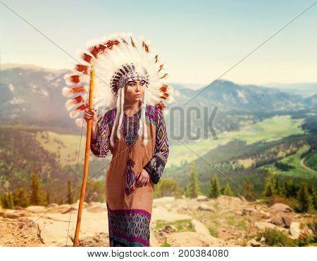 American Indian girl, Cherokee, Navajo