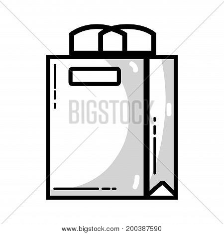 line shopping bag to marketing strategy company vector illustration