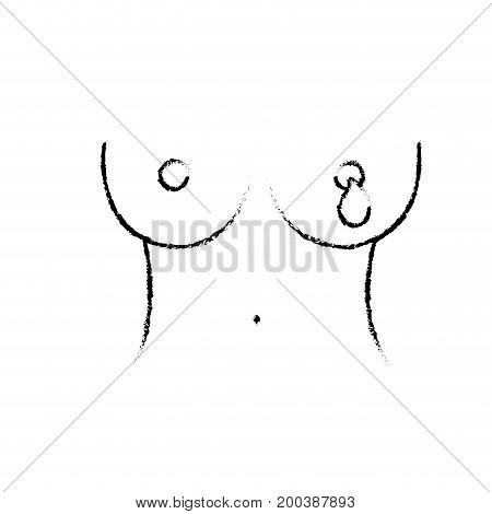 figure breast cancer sickness and medical support vector illustration