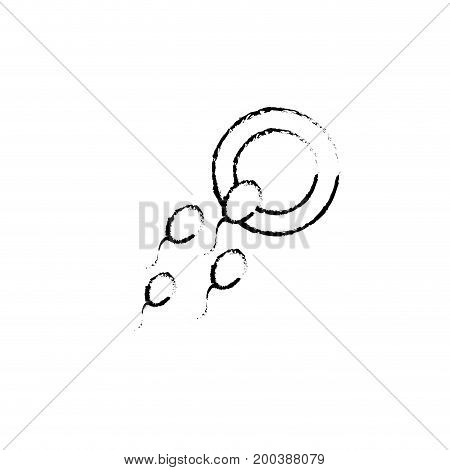 figure ovum with spermatozoon to biology fertilizacion procreation vector illustration