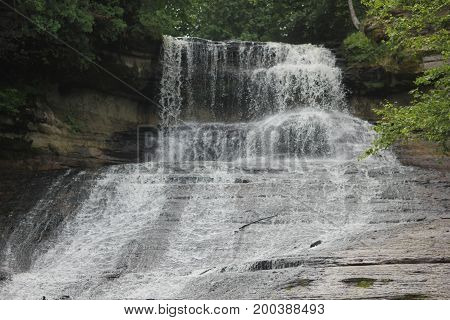 Laughing Whitefish Falls.  A waterfall in Upper Peninsula of Michigan