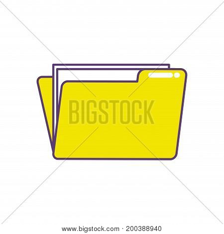 folder file with important business documents vector illustration
