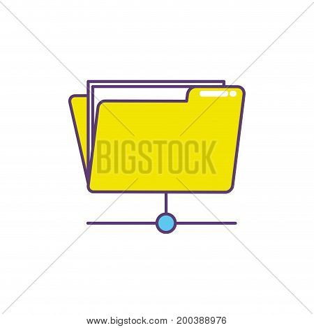 folder file data center server vector illustration