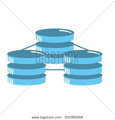 database technology system information service vector illustration