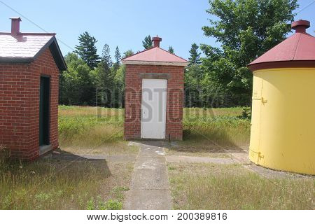 Outbuildings of the Au Sable Light Station, Pictured Rocks National Lakeshore, Upper Peninsula of Michigan