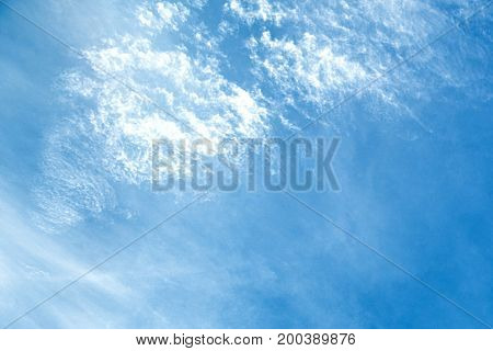 sky, blue, clouds, white, background, cloud, beautiful, nature, beauty, color, summer, light, high, air, weather, climate, outdoor, cloudy, heaven, atmosphere, bright, fluffy, day, view, scenic, sunlight, religion, meteorology, ozone, abstract, clear, lan